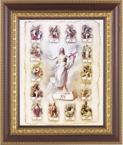 Stations of the Cross Illustrated Framed Print [HFP148]