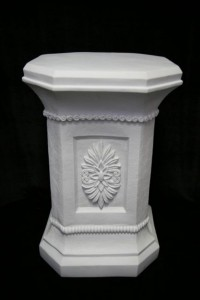 Statue Base White Marble Composite - 30 Inches [VIC7097]