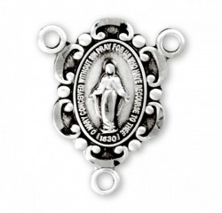 Sterling Silver Miraculous Rosary Centerpiece [RERC001]