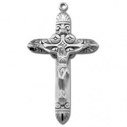 Art Deco Sterling Silver Rosary Crucifix [RECRX014]