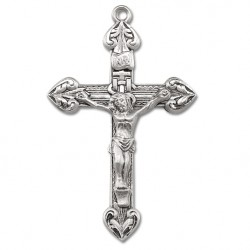 Traditional Sterling Silver Rosary Crucifix [RECRX019]