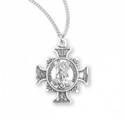 Symbols of Saint Michael Cross Necklace [HMM3028]