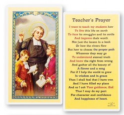 Teacher's Prayer J.B. Delasalle Laminated Prayer Cards 25 Pack [HPR462]