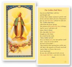 The Golden Hail Mary Laminated Prayer Cards 25 Pack [HPR832]