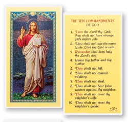 The Ten Commandments Laminated Prayer Cards 25 Pack [HPR129]