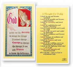 Thought For Today Alcohol Anonymous Laminated Prayer Cards 25 Pack [HPR774]