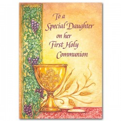 To A Special Daughter on Her First Holy Communion Greeting Card [PRH012]
