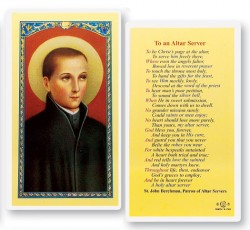 To An Altar Server J. Berchman Laminated Prayer Cards 25 Pack [HPR467]