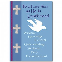 To a Fine Son as He is Confirmed Greeting Card [PRH008]