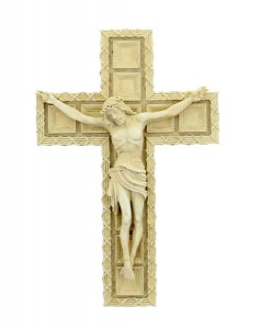 Tomaso Wall Crucifix, Resin, 7 1/2 [CRX1904]