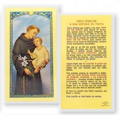 Trece Minutos A San Antonio Laminated Spanish Prayer Cards 25 Pack [HPRS305]