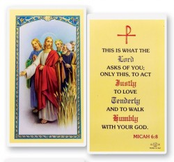 What The Lord Asks Laminated Prayer Cards 25 Pack [HPR787]