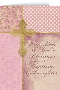 With Love and God's Blessings on your Baptism, Goddaughter Greeting Card [NGC004]