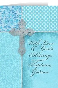 With Love and God's Blessings on your Baptism, Godson Greeting Card [NGC003]