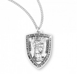 Women or Teen Pointed Shield Saint Michael Necklace [HMM3009]