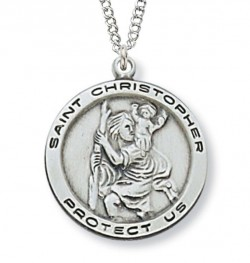 Women or Teen St. Christopher Medal Sterling Silver [MVM1002]