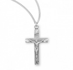 Women's Classic Crucifix Pendant Etched Tips [RECRX1039]