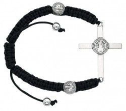 Women's Cross and St. Benedict Charm Bracelet [MCBR0022]