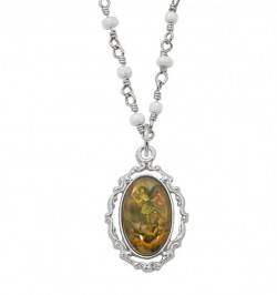 Women's Dainty Saint Michael Necklace [MV2045]