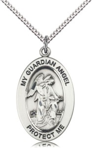 Women's Guardian Angel Simple Necklace [DM1118]
