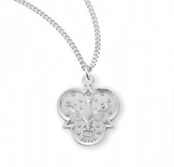 Women's Holy Trinity Dove Necklace [HMM3385]