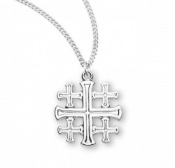 Women's Jerusalem Cross Pendant with Chain [HM0847]