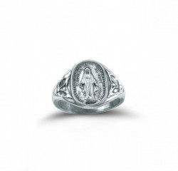 Women's Miraculous Medal Ring Sterling Silver [HMR010]