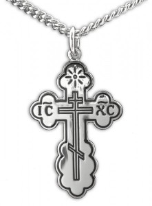 View all cross pendants catholic faith store womens saint olga orthodox sterling silver cross pendant 2 sizes recr1022 mozeypictures Image collections