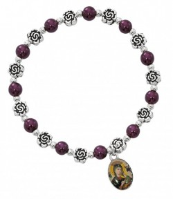 Women's Our Lady of Perpetual Help Stretch Bracelet [MCBR0029]