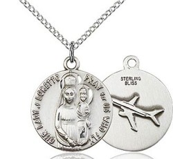 Women's Our Lady of Loretto Pray For Us Who Fly Medal [BM0548]