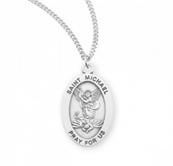 Women's Oval St. Michael Archangel Medal [HMM3033]