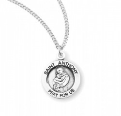Women's Round Saint Anthony Necklace [HMM3415]