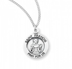 Women's Round Saint Francis of Assisi Necklace [HMM3417]