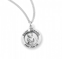 Women's Round Saint Gerard Necklace [HMM3418]