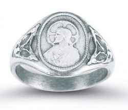 Women's Sacred Heart Scapular Ring Sterling Silver [HMR011]