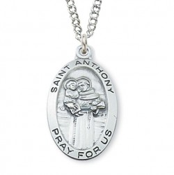 Women's St. Anthony Medal Sterling Silver [MVM1054]