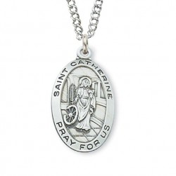 Women's St. Catherine of Alexandria Medal Sterling Silver [MVM1059]