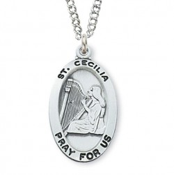 Women's St. Cecilia Medal Sterling Silver [MVM1060]