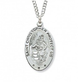 Women's St. Christopher Necklace with Stars [MVM1007]
