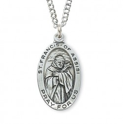 Women's St. Francis of Assisi Medal Sterling Silver [MVM1115]