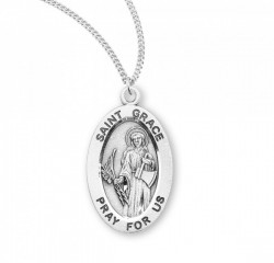 Women's St. Grace Oval Medal [HMM3105]
