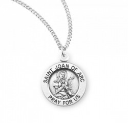 Women's St. Joan of Arc Round Medal [HMM3115]