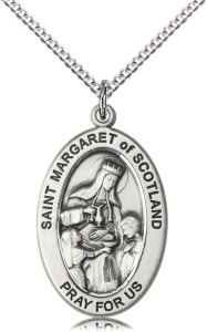 Women's St. Margaret of Scotland Oval Necklace [DM1407]
