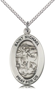 Women's St. Michael of Police Necklace [DM1076]