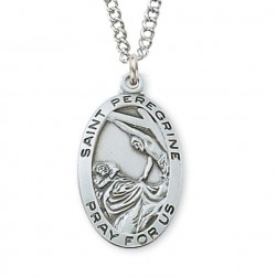 Women's St. Peregrine Medal Sterling Silver [MVM1081]