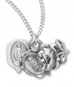 Women's Sterling Silver Rosebud Triple Slide Pendant [RECRX1065]