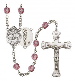 Women's Sts. Cosmas & Damian Doctors Birthstone Rosary [RBENW8132S8]