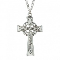 Women's Narrow Celtic Cross Sterling Silver [MVM1100]