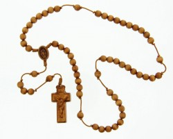 Wood 5 Decade Rosary - 8mm [RB3924]
