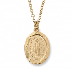 Youth Size Oval Miraculous Medal Goldtone [MV2003]